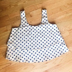 {Forever 21 } cropped polka dot ruffle top Sz M